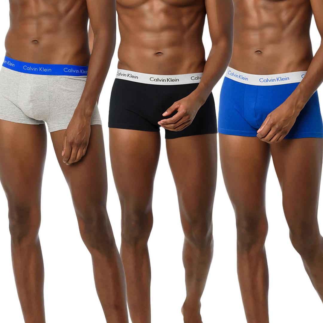 Kit Cueca Calvin Klein Jeans Low Rise Trunk