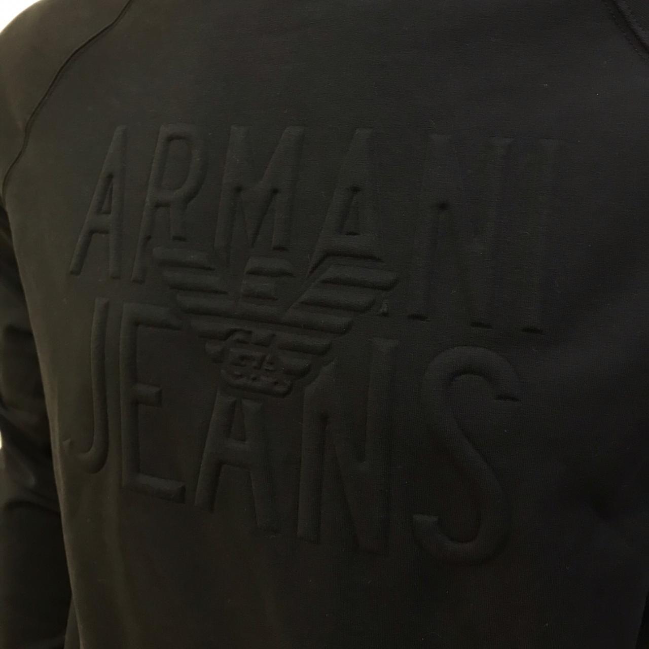 Moletom Armani Jeans com Estampa em Relevo preto