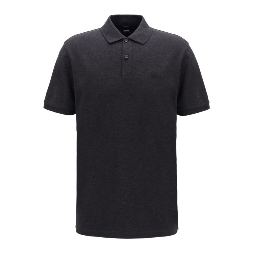 Polo Hugo Boss regular em piqué fino