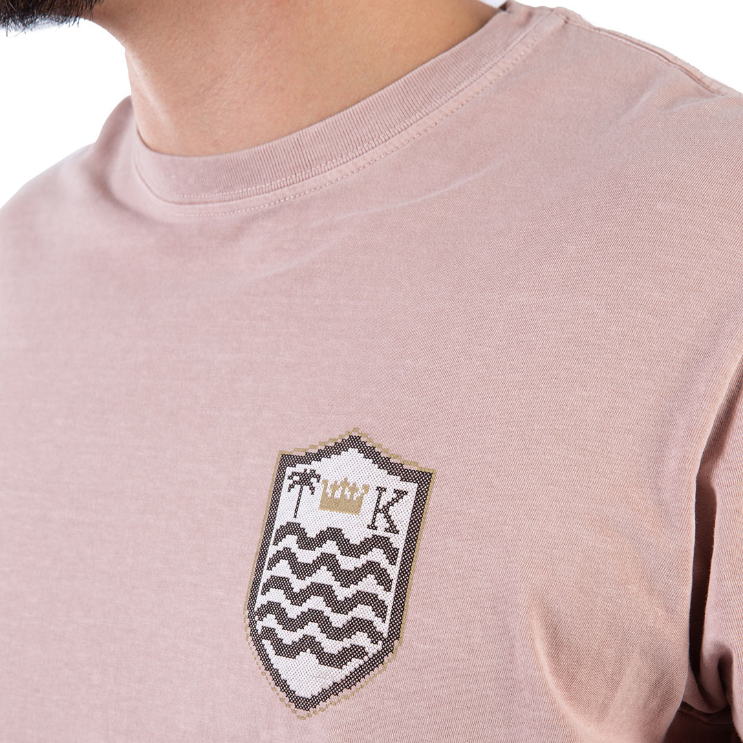 Camiseta Osklen Brasão Ponto Cruz Regular Manga Curta