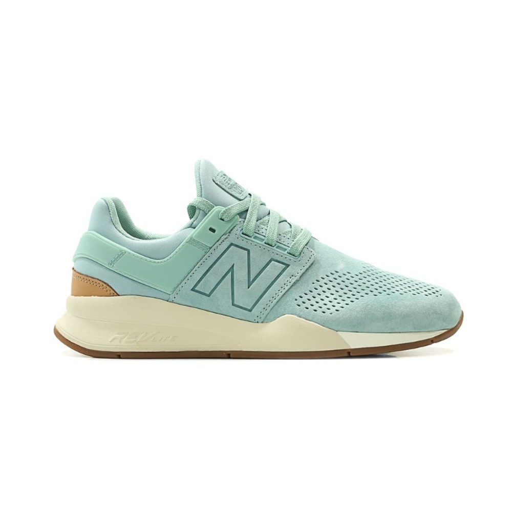 Tênis New Balance 247 luxe premium verde água