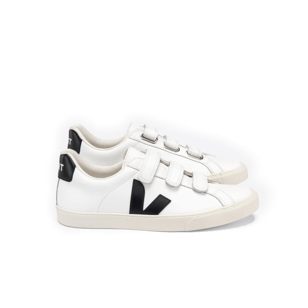 Tênis Vert 3-Lock Logo Couro Extra White Black