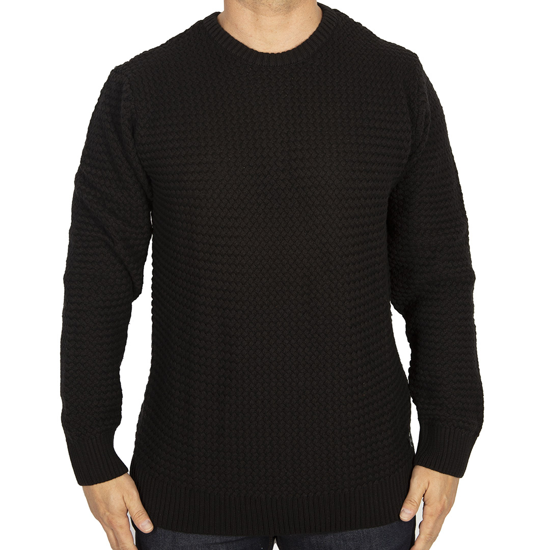 Tricô Ellus Cotton Basket Crew Neck