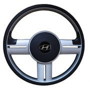 Volante Hyundai HR Esportivo Rallye Universal Prata