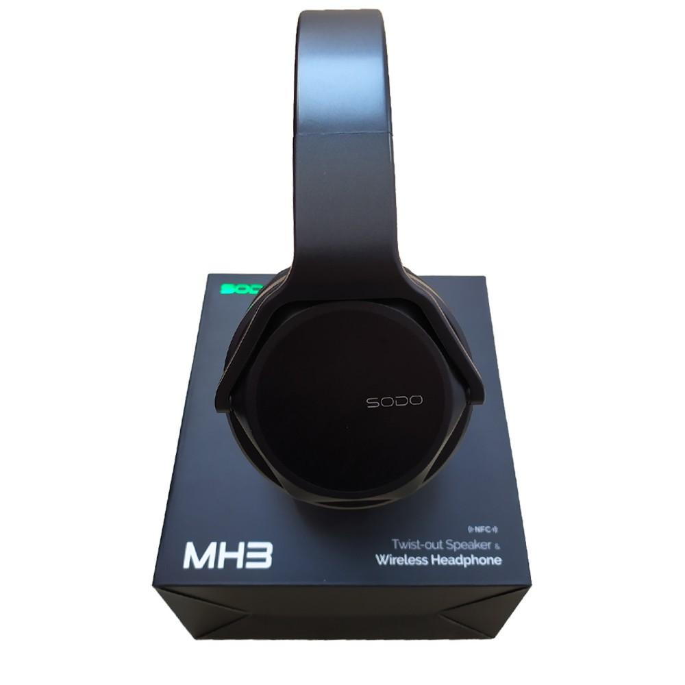 Fone de Ouvido - HeadPhone SODO MH3 Bluetooth / Auxiliar / Rádio - Preto
