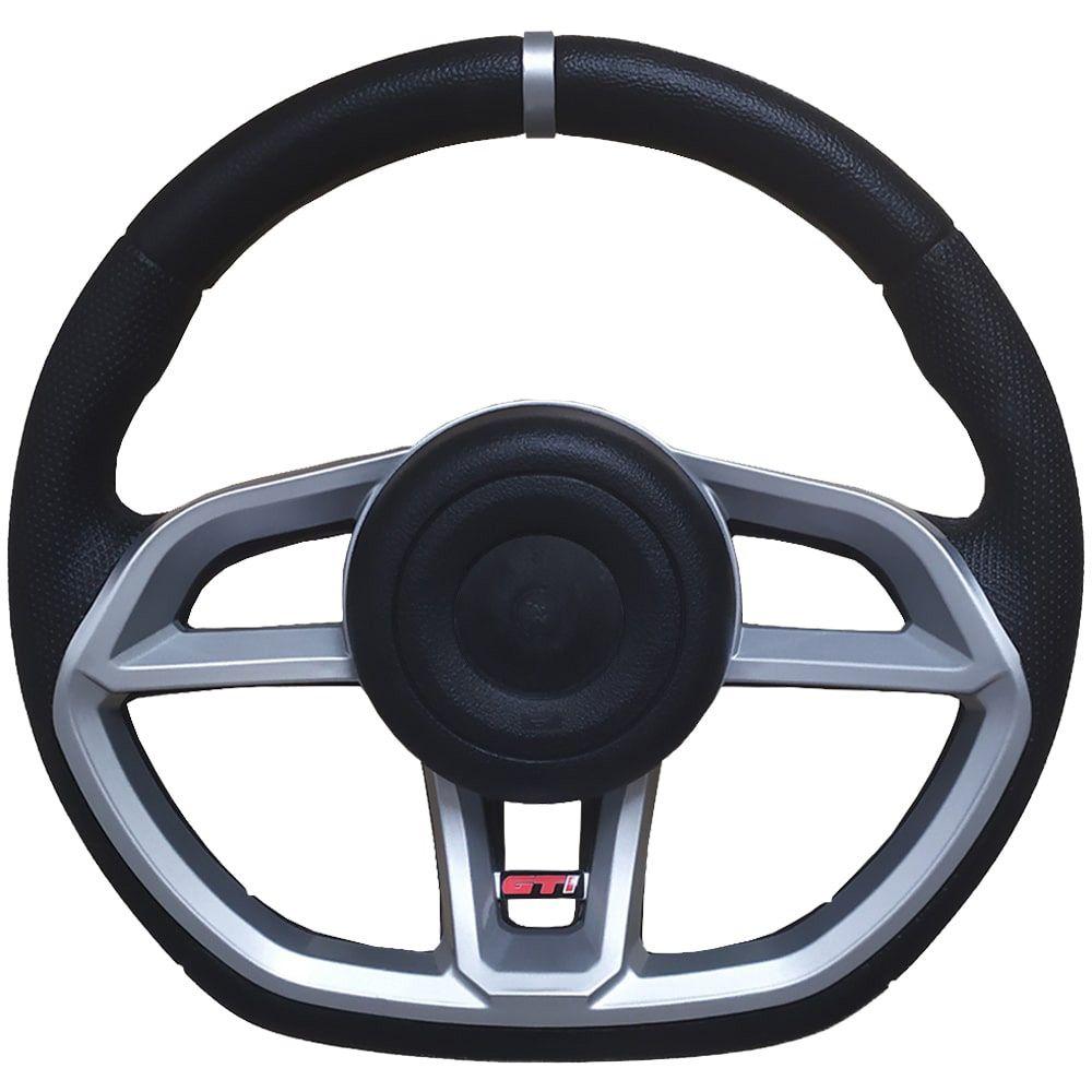 Volante Esportivo GTI Vision Prata Universal