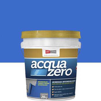 Manta Elástica  Impermeabilizante Acrílica Acquazero 20kg Azul