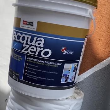 Manta Elástica Impermeabilizante Acrílica Acquazero 4kg Cinza