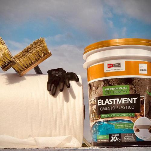Manta Líquida Cimentícia Elastment 20kg Cinza