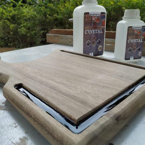 Resina Epóxi Crystal Baixa Espessura  C/ Endurecedor Kit 1,5kg