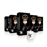 Kit com 5 Pacotes de Café Pacaembu Gourmet 500G e ganhe 1 caneca