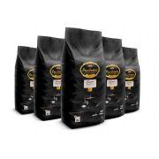 Kit com 5 Pacotes de Café Pacaembu Gourmet em Grãos 1 Kg