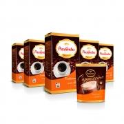 Kit com 5 Pacotes de Café Pacaembu Tradicional Vácuo 500G e ganhe 1 Cappuccino Tradicional Sachê 100 G
