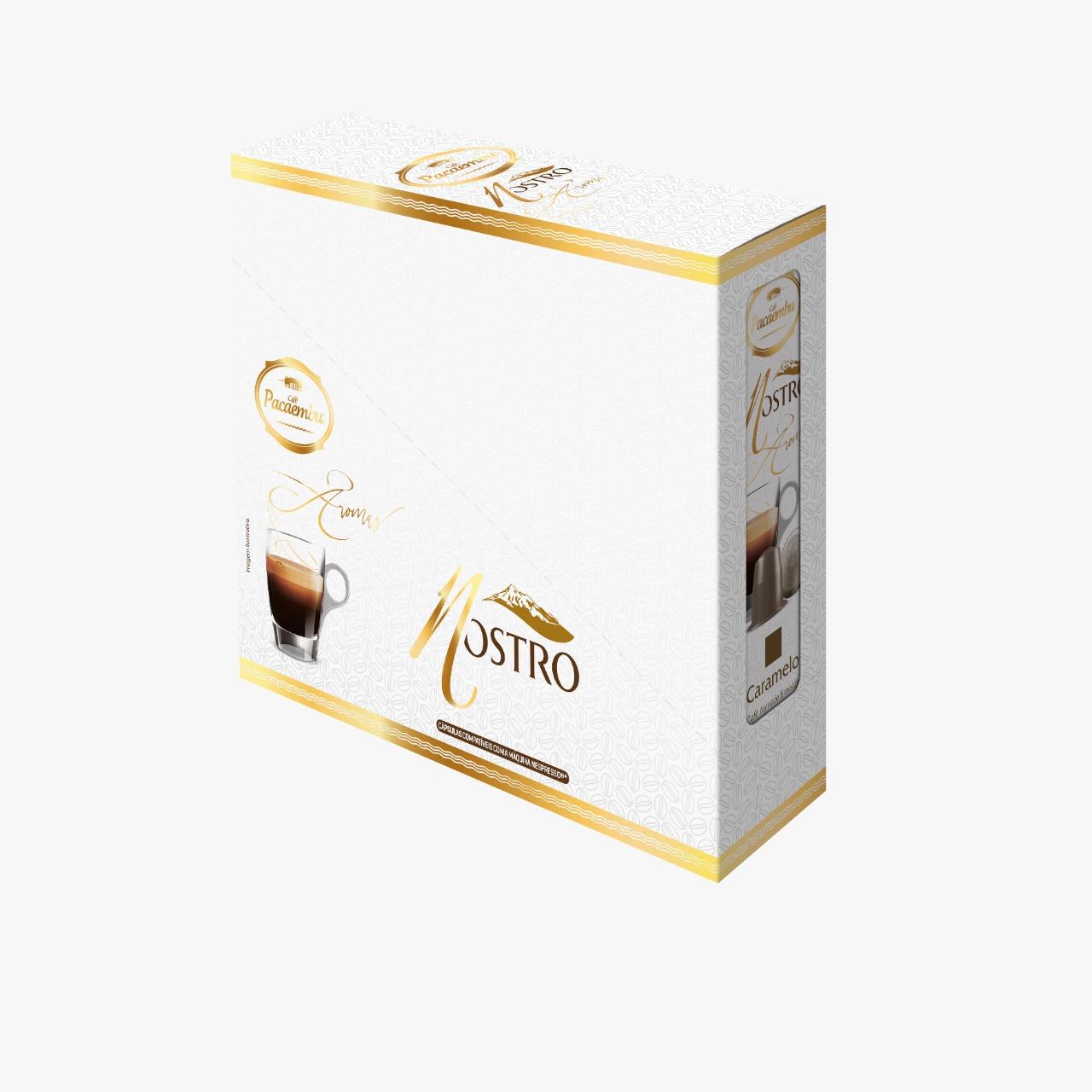 Caixa Display com 06 Cartuchos Aroma Caramelo Pacaembu