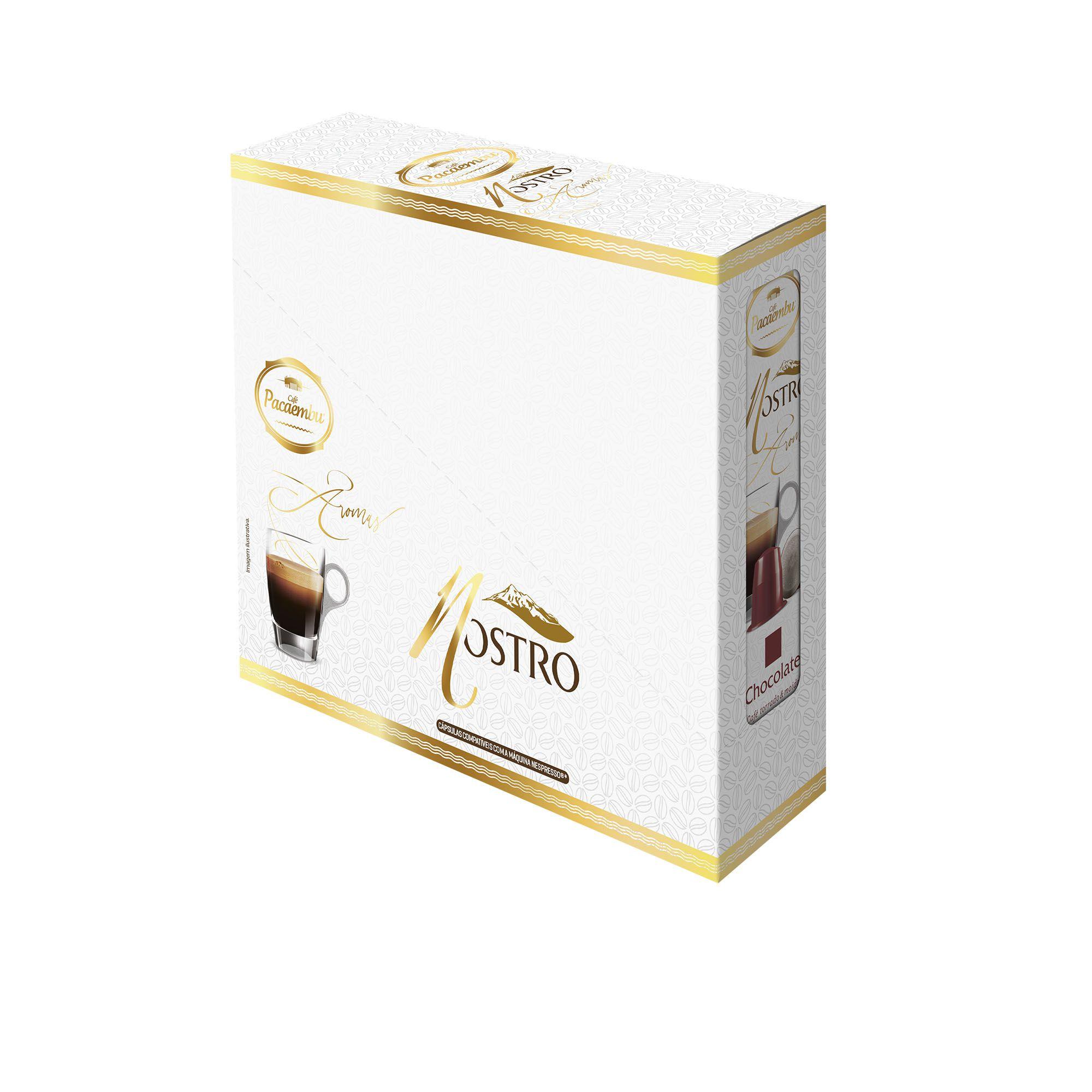Caixa Display com 06 Cartuchos Cápsulas 5 Gramas Aroma Chocolate