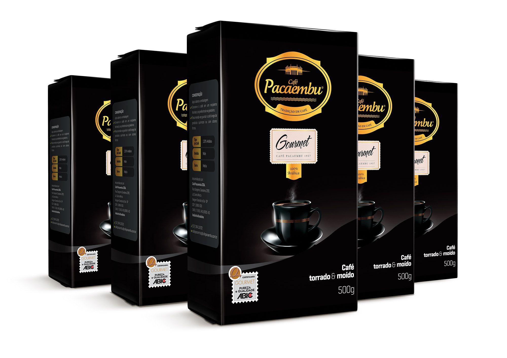 Kit com 5 Pacotes de Café Pacaembu Gourmet 500G