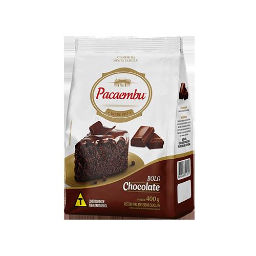 Mistura para bolo Pacaembu sabor chocolate 400 gramas