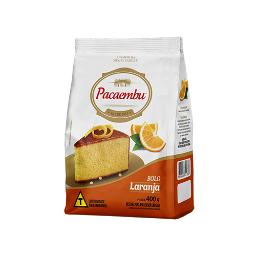 Mistura para bolo Pacaembu sabor laranja 400 gramas