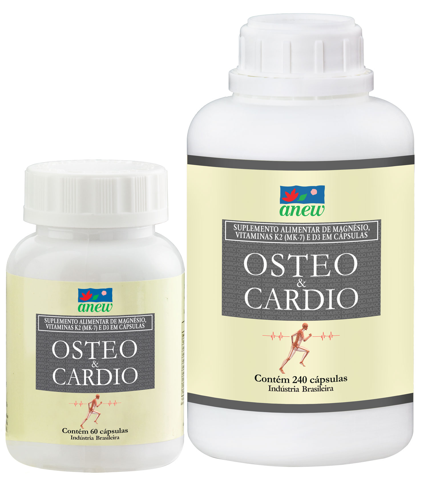 Osteo & Cardio Magnésio Quelato 60 cáps