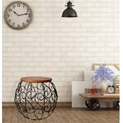 Banco barril arabesco ferro e madeira rustico artesanal