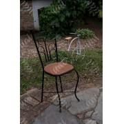 Cadeira de chá rustica artesanal ferro e madeira