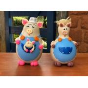 Familia de porquinhos em cabaça