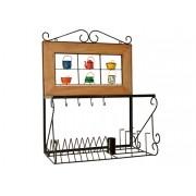Paneleiro escorredor 60cm ferro madeira rustico artesanal