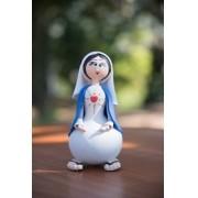 Sagrado coração de Maria em cabaça rustico artesanal