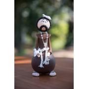 São Francisco de Assis em cabaça rustico artesanal