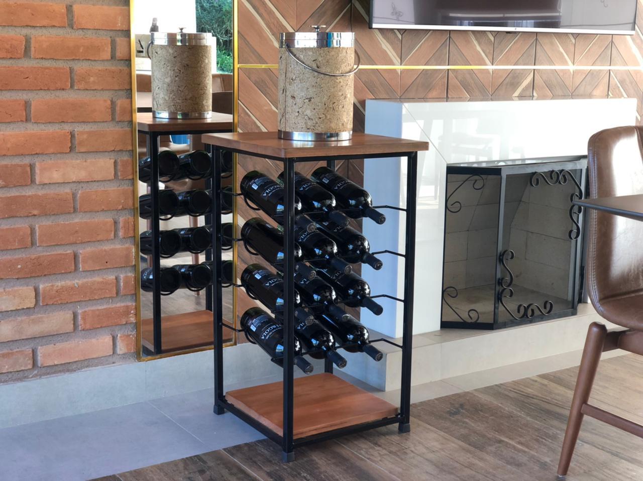 Adega luxuosa lançamento porta vinho