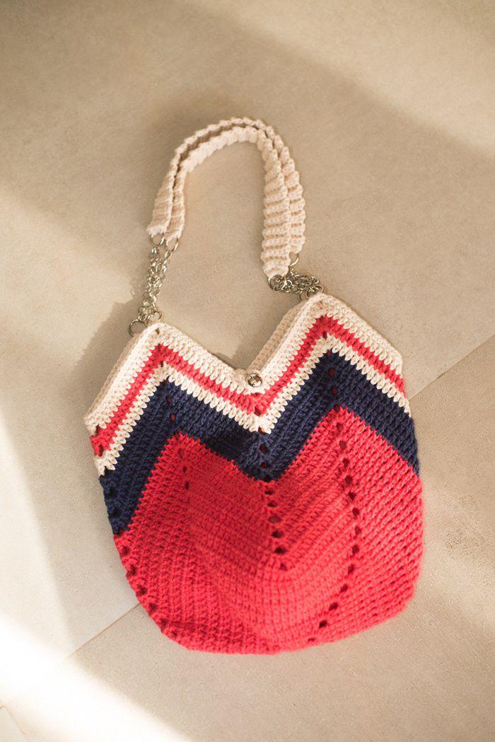 Bolsa de croché rústica artesanal