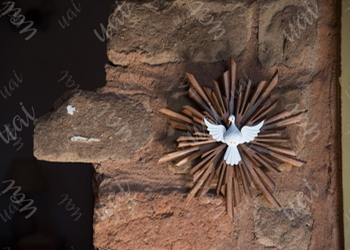 Divino espírito santo resplendor 20cm rustico artesanal