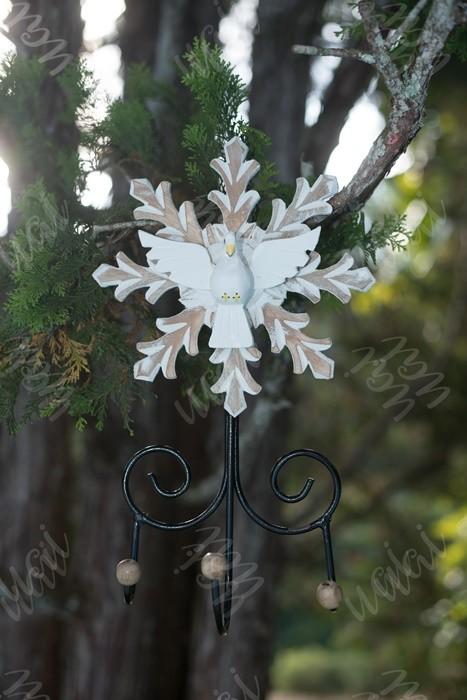 Divino resplendor cabideiro picotado ferro madeira rustico artesanal