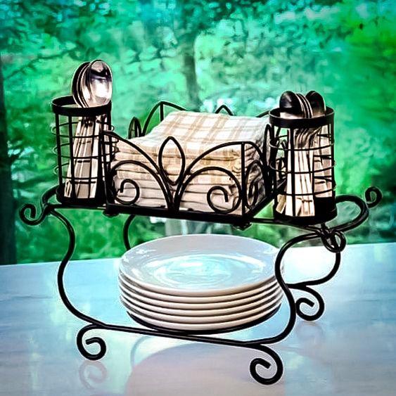 Paneleiro escorredor de mesa kit sobremesa ferro rustico artesanal