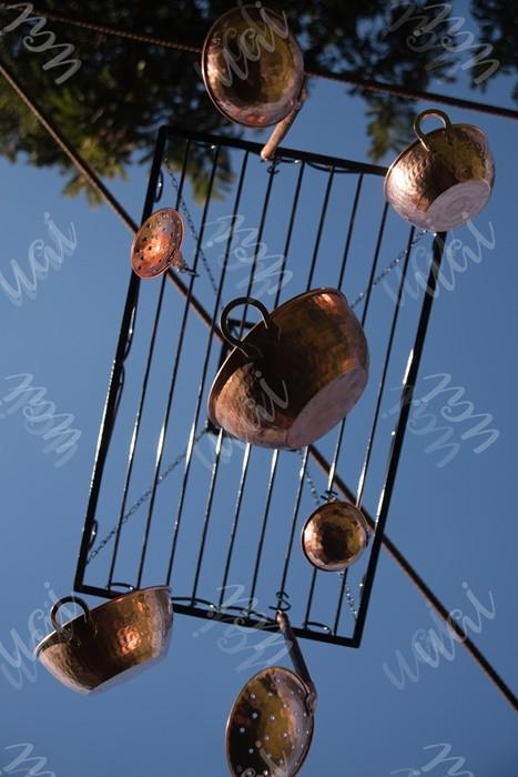 Paneleiro escorredor de teto ferro rustico artesanal fogão à lenha