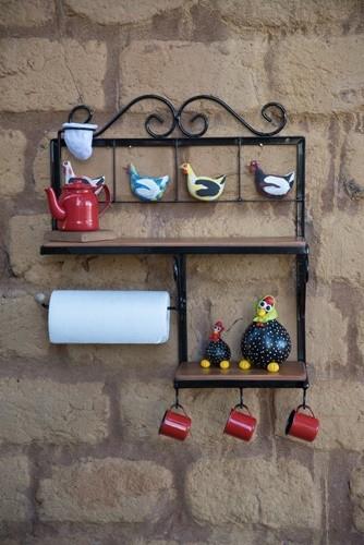Porta condimentos decoração ferro maderia rustico artesanal