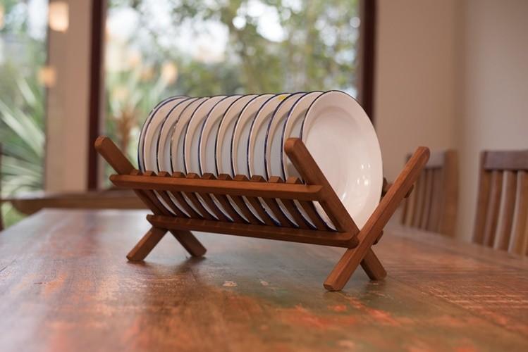 Prateiro de madeira rustico artesanal