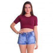 Cropped T-Shirt Plus Size Lynnce