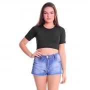 Cropped T-Shirt Plus Size Lynnce