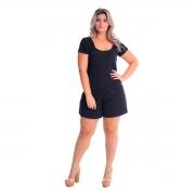Macaquinho Curto T-shirt Plus Size Lynnce
