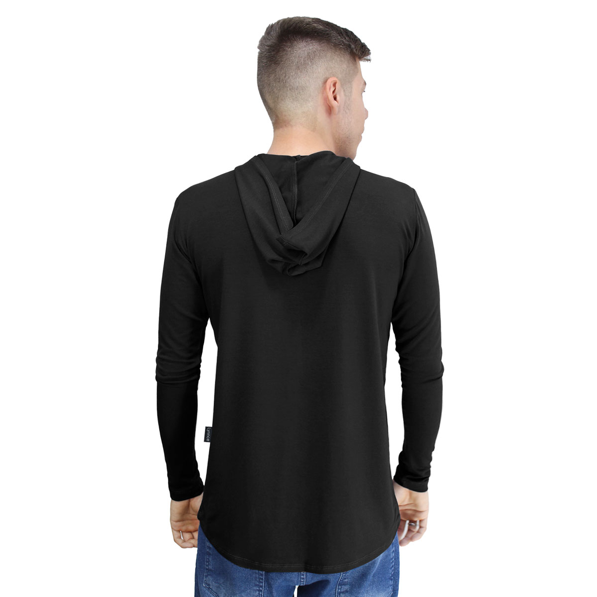 Camiseta Masculina Com Capuz Manga Longa Lynnce