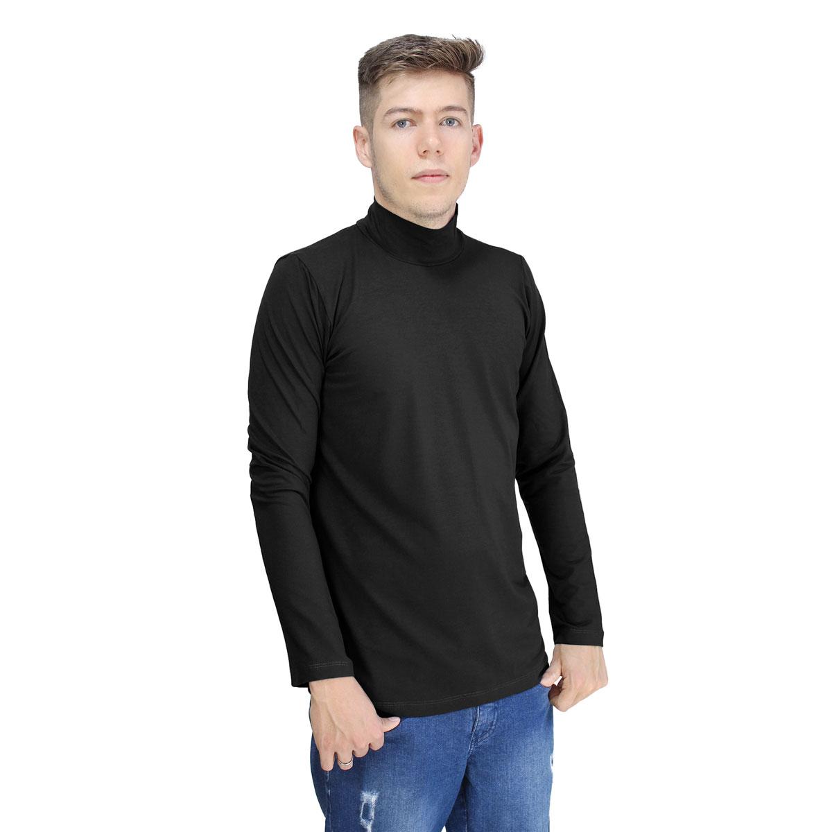 Camiseta Masculina Gola Alta Cacharrel Manga Longa Lynnce