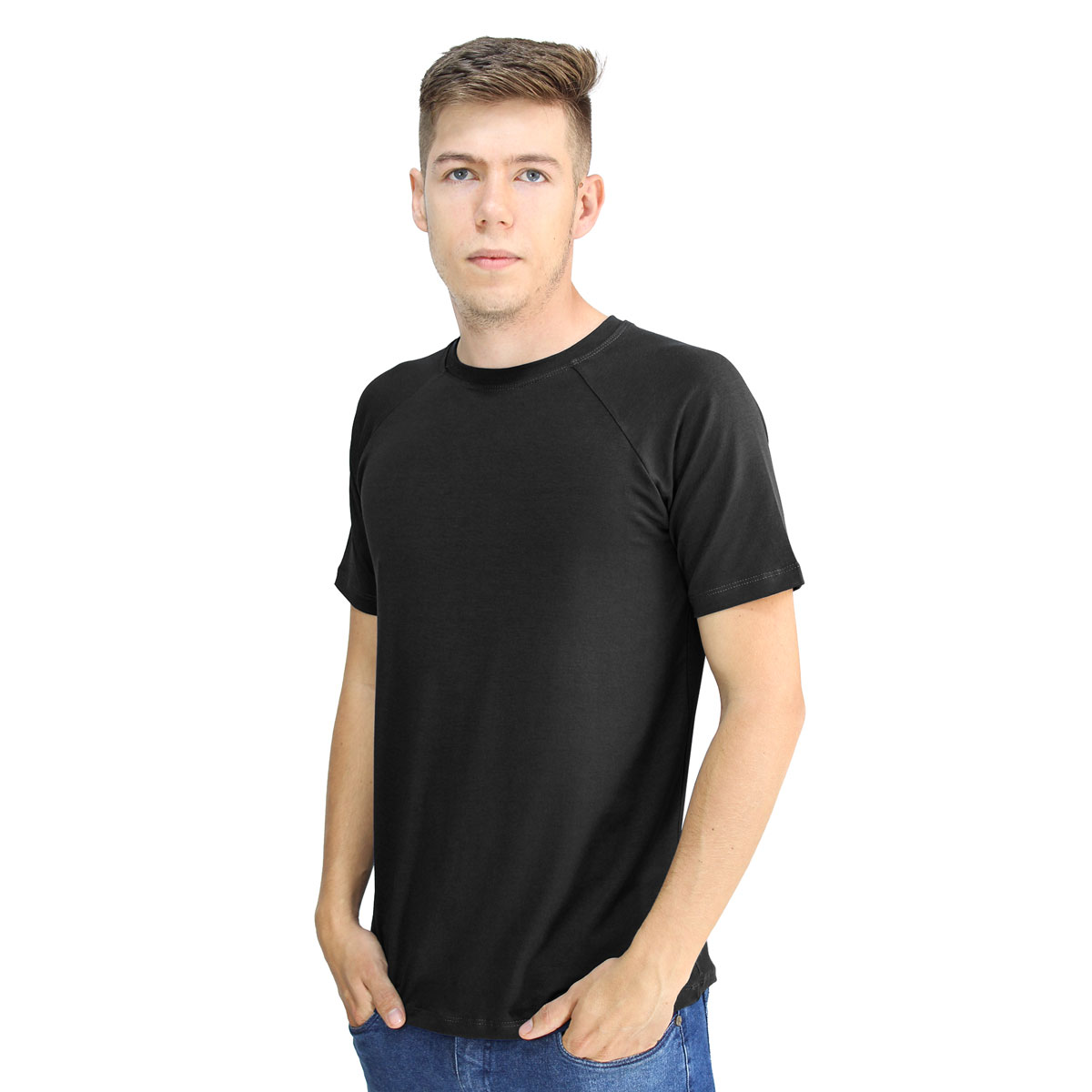 Camiseta Masculina Raglan Gola Redonda Manga Curta Lynnce