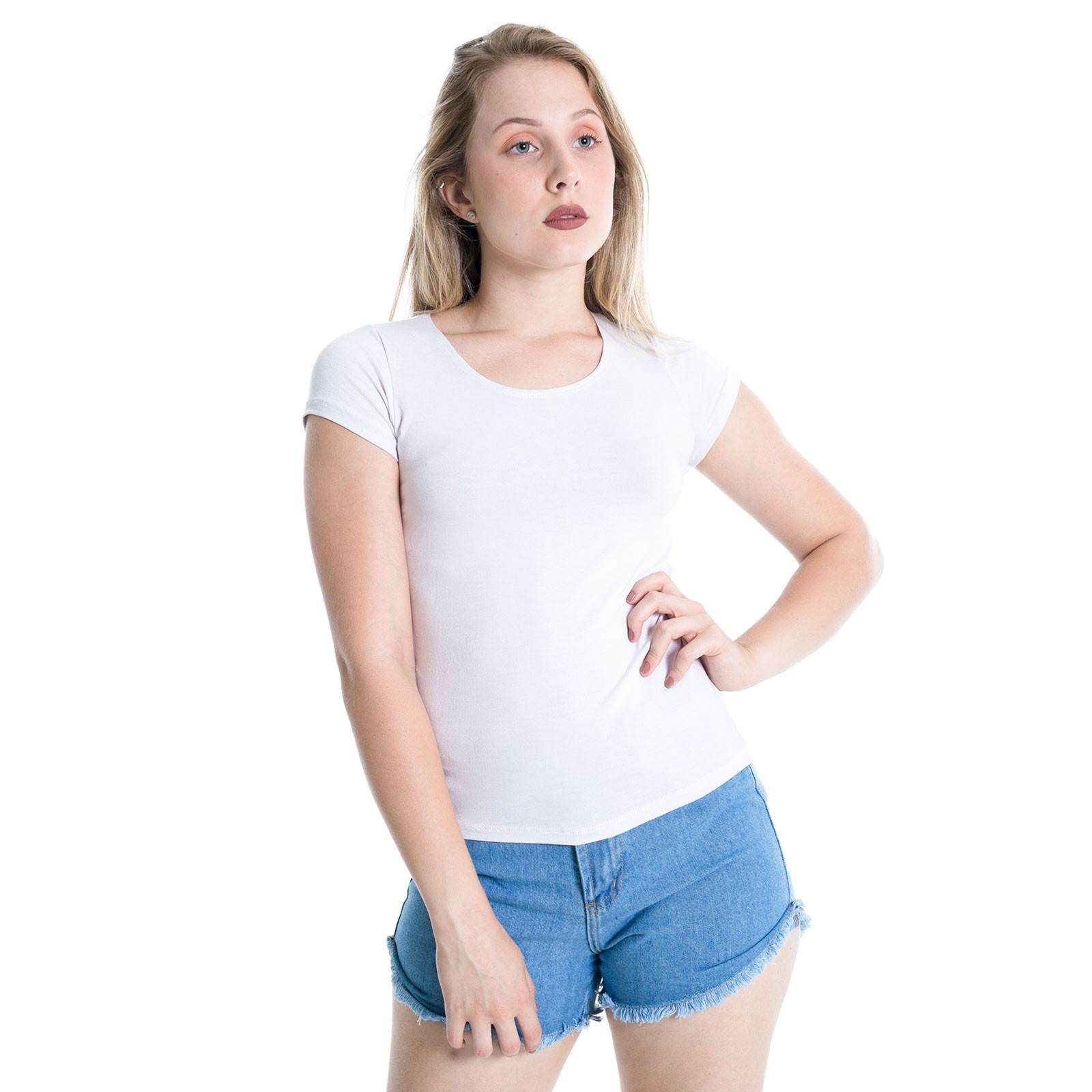 Camiseta T-shirt Básica Plus Size Lynnce