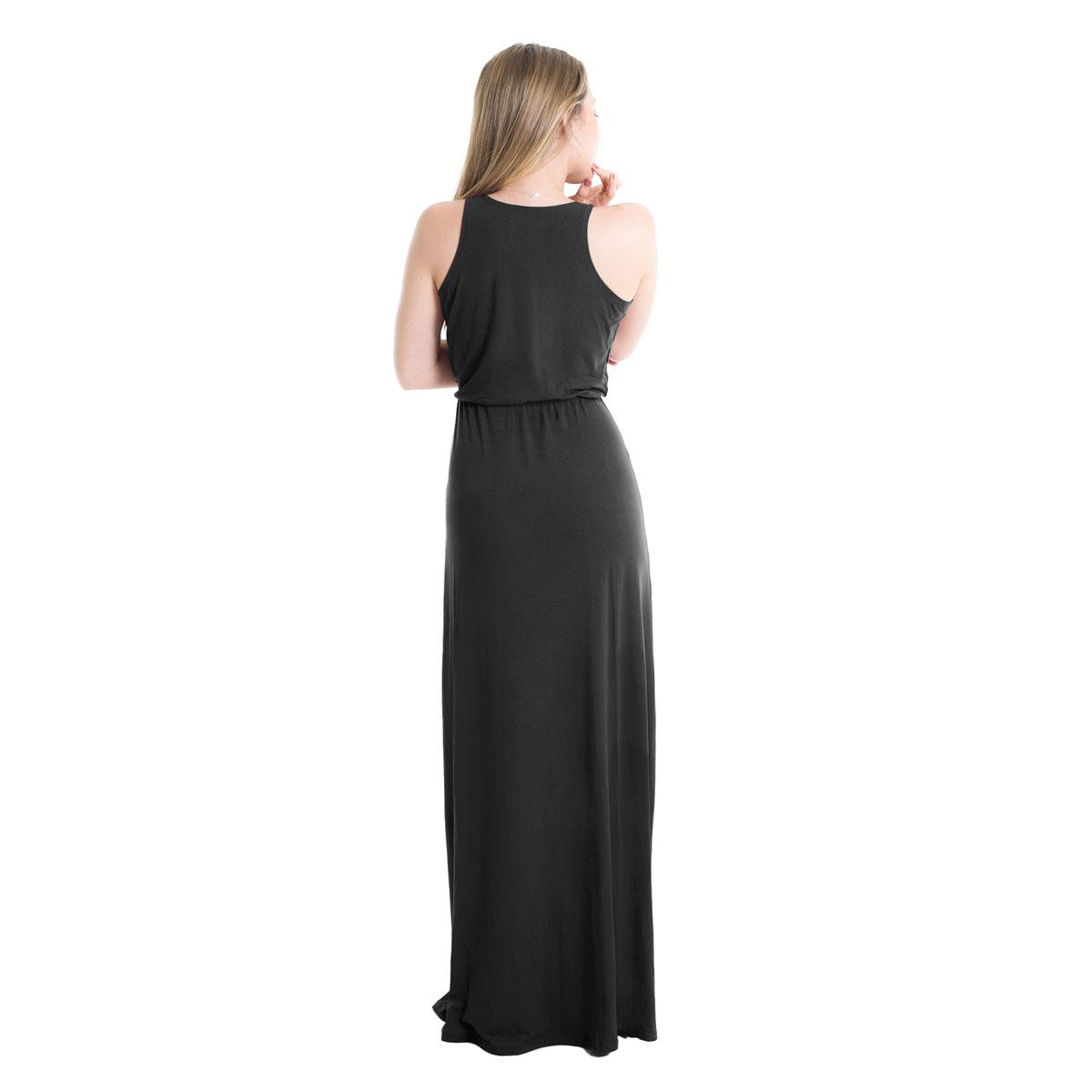 Vestido Longo Decote Transpassado Fendas Lynnce