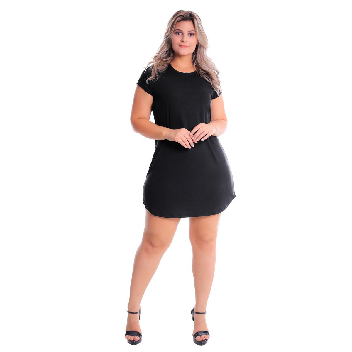 Vestido T-Shirt Blusão Plus Size Lynnce