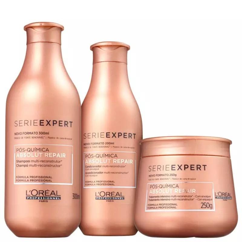 Kit L'oreal Absolut Repair Pós Química trio (shampoo, Condicionador E Máscara)