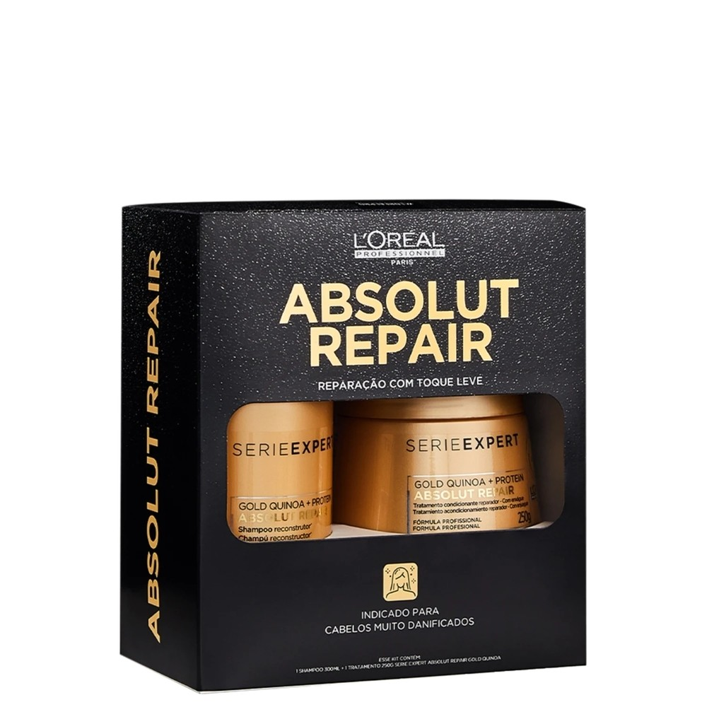 Kit Loreal Box Absolut Repair Gold Quinoa