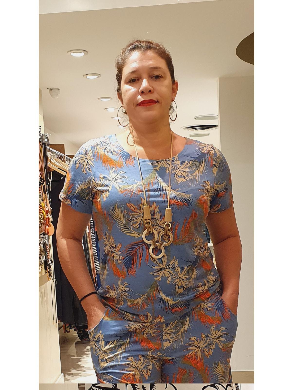 Blusa Básica Malha Estampada em 4 Cores