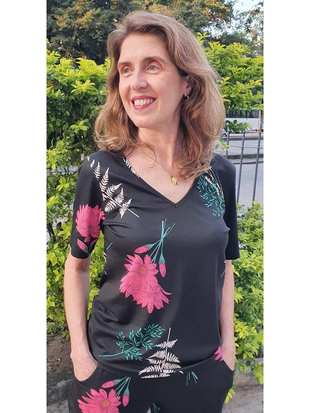 Blusa Malha Estampada Nina em 8 Cores